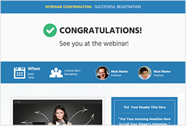 eventfunnels webinar confirmation Page