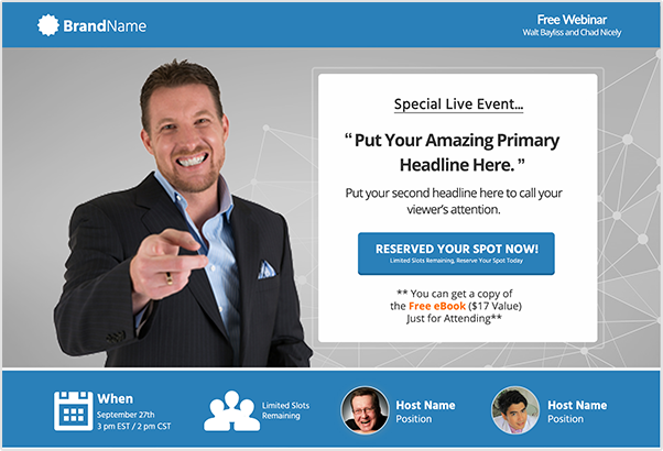 eventfunnels webinar registration page