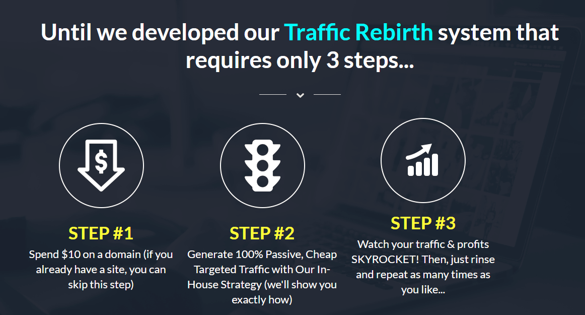 traffic rebirth review 3 steps